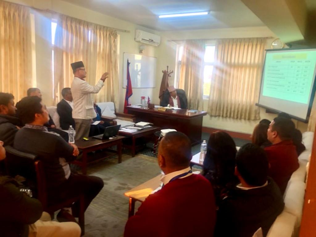 राष्ट्रिय बाल अधिकार परिषद्मा अध्यक्षज्यूको स्वागत कार्यक्रम